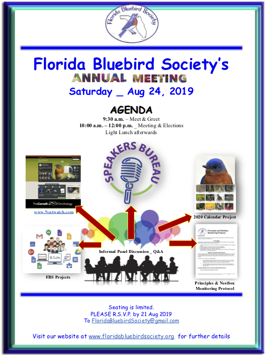 Florida Bluebird Society's Annual Meeting